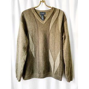 """Vintage 90s wool blend """"dad"""" sweater"""